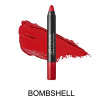 Glo Minerals suede matte crayon bombshell.